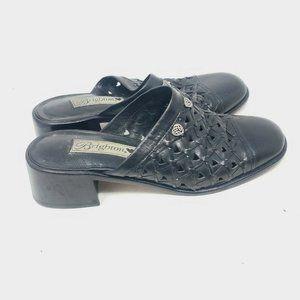 Brighton Slip On Mules Slide Heels Fanny Leather